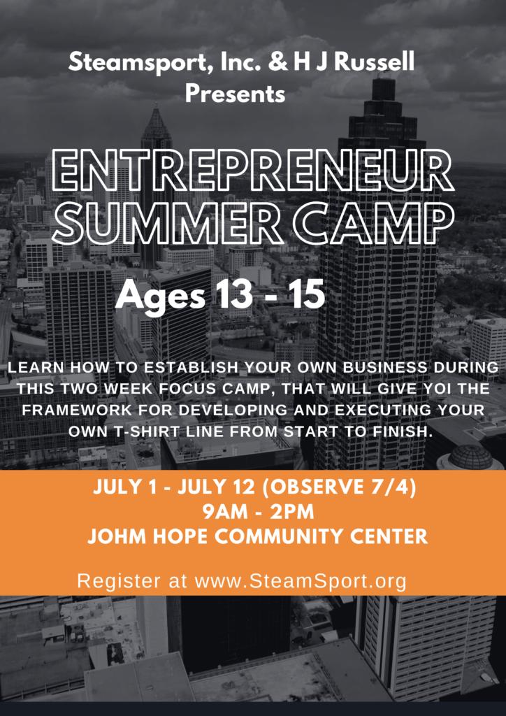 2019 Teen Entrepuernuer summer camp-2-1